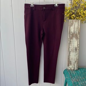 16 average avenue maroon rayon pants new